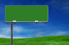 Outdoor Advertising Billboard Freeway Sign. In Natural Setting royalty free stock image