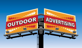 Outdoor advertising. Billboards on sky background. Additional format - Adobe Illustrator 10, CMYK Stock Image