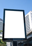 Outdoor advertising board. On the street in business area Royalty Free Stock Photo