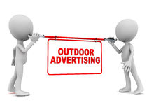 Outdoor advertising Stock Images