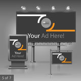 Outdoor advertising design Royalty Free Stock Image
