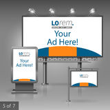 Outdoor advertising design Royalty Free Stock Images
