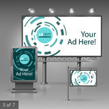 Outdoor advertising design Stock Image