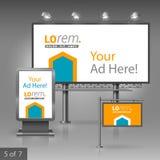 Outdoor advertising design Stock Photos