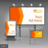 Outdoor advertising design Stock Image