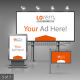 Outdoor advertising design Royalty Free Stock Photography