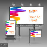 Outdoor advertising design Stock Images
