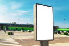Outdoor advertising blank vertical signboard for poster mock up royalty free stock images