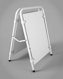 Outdoor advertising stands for your design. Promotional rack. 3d Stock Photos