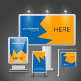 Outdoor advertising template Royalty Free Stock Photos