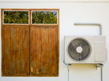 Outdoor air conditioning unit Royalty Free Stock Photos