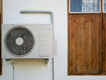 Outdoor air conditioning unit Royalty Free Stock Images
