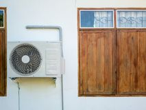 Outdoor air conditioning unit Royalty Free Stock Image