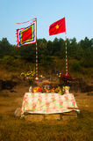 Outdoor altar Royalty Free Stock Photography