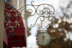 Outdoor analog wall clock Royalty Free Stock Images