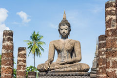 Outdoor ancient Buddha image (UNESCO World heritage site) Royalty Free Stock Photos