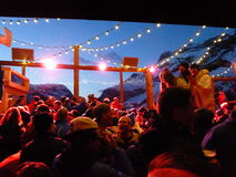 Outdoor Apres Ski Stock Image