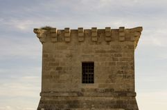 Outdoor architecture of an ancient Venetian tower in Cyprus Stock Photography