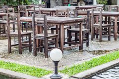 Outdoor area of restuarant Royalty Free Stock Photography