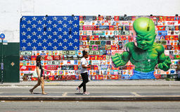 Outdoor art in Nolita district, New York Royalty Free Stock Photos