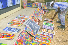 Outdoor Art Show, Cabatete, Dominican Republic Stock Photography