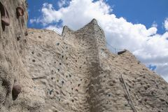 Outdoor artificial climbing wall Royalty Free Stock Images