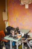 Outdoor artisan workshop Stock Image