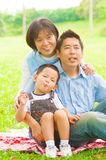 Outdoor Asian family Stock Image