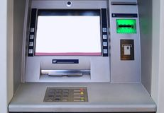 Outdoor ATM cash machine royalty free stock images