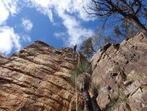 Outdoor Australian Rock Climbing Stock Photography