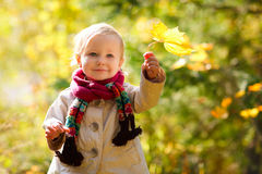 Outdoor autumn portrait Stock Image