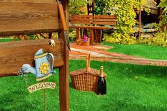 Outdoor Backyard  BBQ Grill Party Or Picnic Scene In The Summer Royalty Free Stock Photo