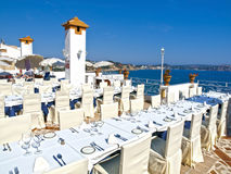 Outdoor Banquet Table Royalty Free Stock Images