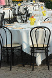 Outdoor Banquet Tables Royalty Free Stock Photography