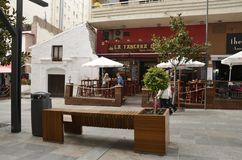 Outdoor bar in Marbella Royalty Free Stock Photography