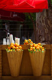 Outdoor bar with orange Royalty Free Stock Photography
