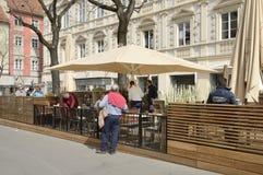 Outdoor bar terrace Stock Photos