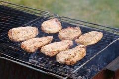 outdoor Barbacoa deliciosa Foto de archivo