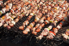 Outdoor barbecue Stock Images