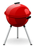 Outdoor Barbecue. An illustration of an outdoor barbecue in bright red Royalty Free Stock Photography