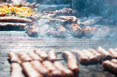 Outdoor barbecue Royalty Free Stock Photo