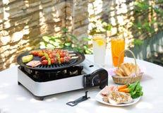 Outdoor barbecue set Royalty Free Stock Photos