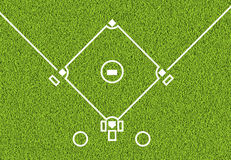 Outdoor baseball white line and green grass field background. Outdoor baseball white line and the green grass field background Royalty Free Stock Image