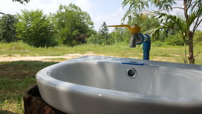 Outdoor basin at open space Stock Images