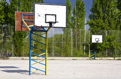 Outdoor basketball Stock Image