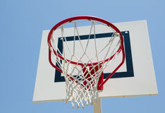Outdoor basketball basket Stock Image