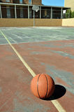 Outdoor Basketball Court Royalty Free Stock Images