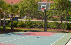 Outdoor Basketball Court Royalty Free Stock Photo