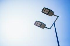 Outdoor basketball court led lighting Stock Photography