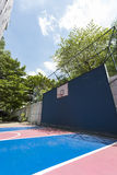 Outdoor basketball court Stock Image